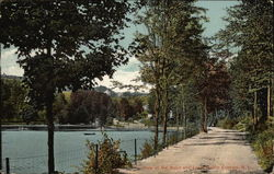 View of Road and Lake