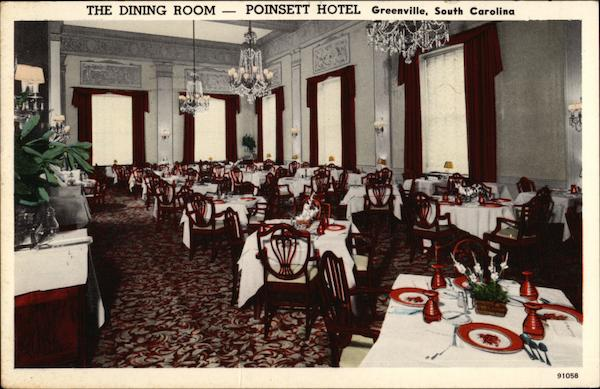 Poinsett Hotel - The Dining Room Greenville South Carolina