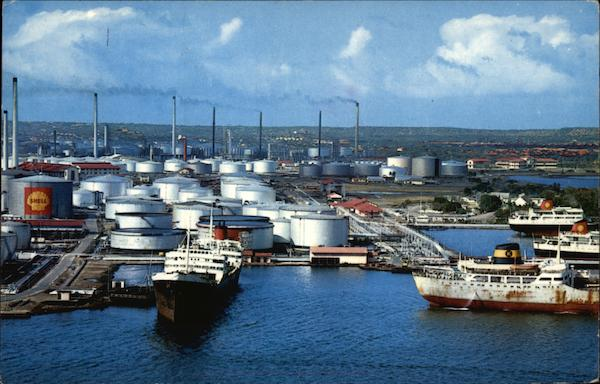 Shell Refinery Curacao Netherland Antilles Caribbean Islands