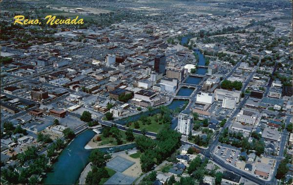 Aerial View of Reno Nevada