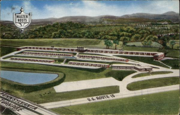 Aerial View of The Holiday Motor Hotel, R.D. 3 Mechanicsburg Pennsylvania