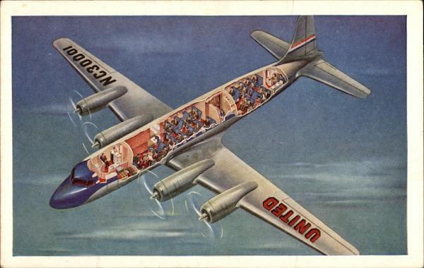 Cutaway View of United's Mainliner Aircraft