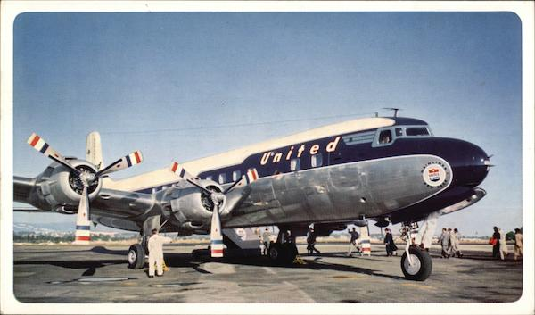 United DC-6 Mainliner Aircraft