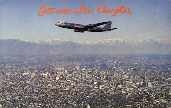 Jet over Los Angeles California
