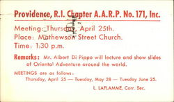 Providence, R.I. Chapter A.A.R.P. No. 171, Inc