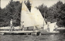 Rigging for a Sailing Regatta at Yawgoog Scout Camps