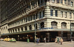 Sherman Hotel at Clark and Randolph Streets in Chicago Postcard