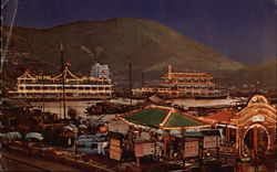 Night View of Floating Restaurants