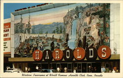 Western Panorama at World Famous Harolds Club Postcard