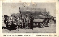 Too much speed - here's your ticket; Jack Ratliff