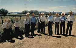 Group of young boys in cowboy hats