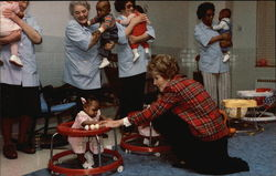 First Lady Nancy Reagan at St. Anne's Hospital, Hyattsville, Maryland