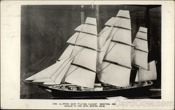 Clipper Ship Flying Cloud Boston Massachusetts Sailboats