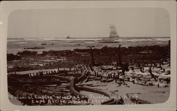 Colonial Empire Wrecked on Thunderbolt Reef Cape Pacific South Africa