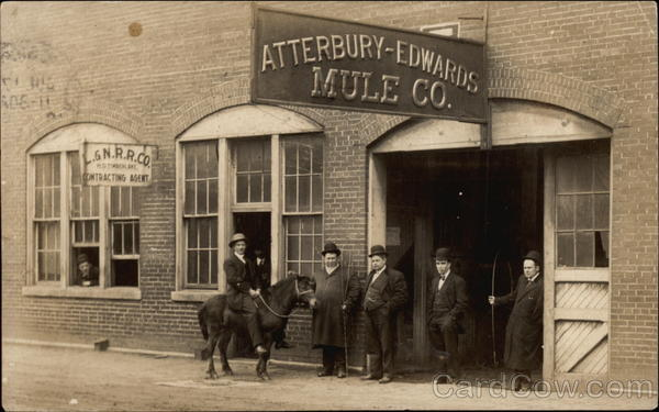 Atterbury-Edwards Mule Co Naitonal Stockyards Illinois