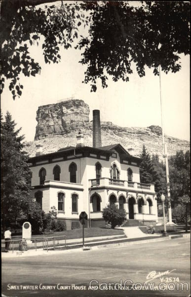 Sweetwater County Court House and Castle Rock Green River Wyoming