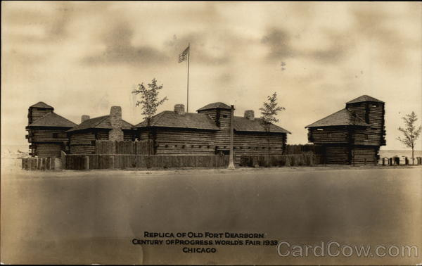 Replica of Old Fort Dearborn, Century of Progress World's Fair 1933 Chicago Illinois