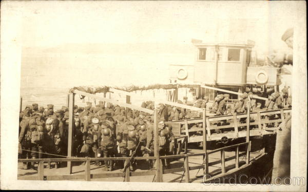 Soldiers on Boat Military