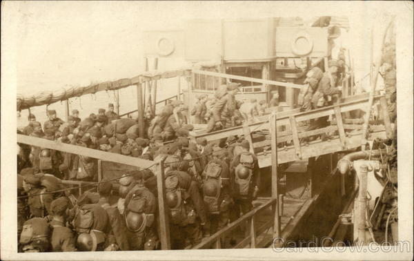 Soldiers on a Boat Military