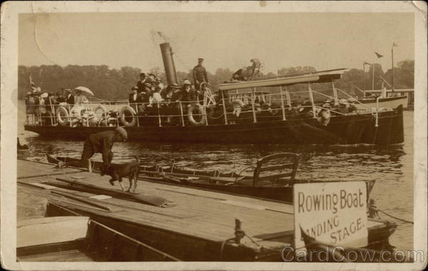 Rowing Boat Landing Stage England