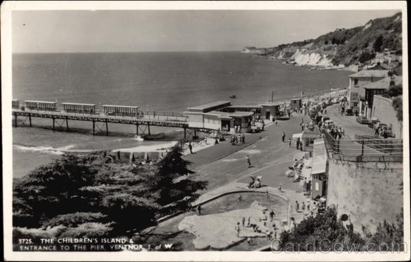 The Children's Island and Entrance to the Pier, Ventnor Isle of Wight United Kingdom