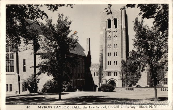The Law School, Cornell University - Myron Taylor Hall Ithaca New York