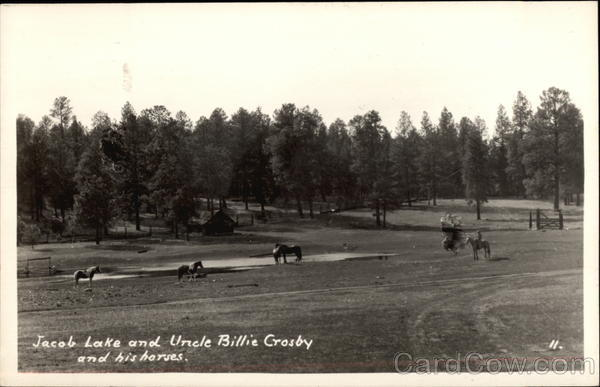 Jacob Lake and Uncle Billie Crosby and His Horses