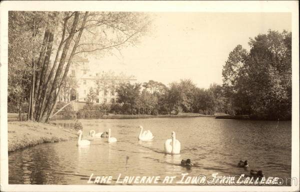 Lake Laverne at Iowa State College Ames