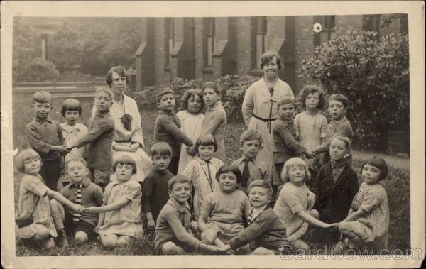 Group of Schoolchildren Stockport England School and Class Photos