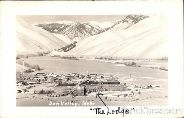 Aerial View of The Lodge Sun Valley Idaho