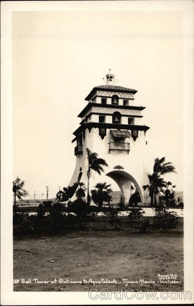 Bell Tower at Entrance to Agua Caliente Tijuana Mexico