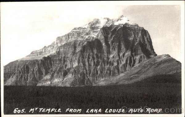 Mt. Temple from Lake Louise Auto Road Canada Alberta