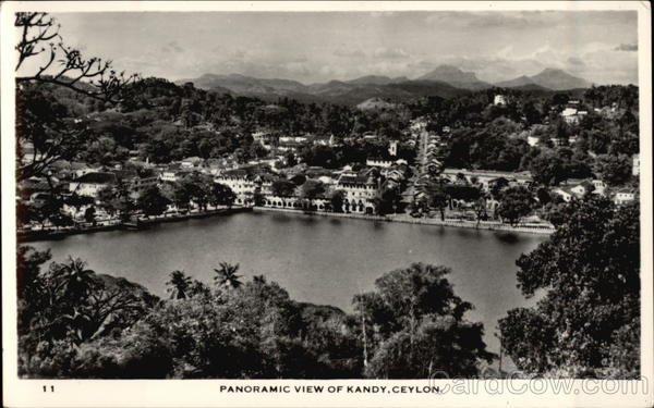 Panoramic View of City Kandy Ceylon Southeast Asia