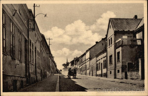 View of Street in Town of Březové Hory Czech Republic