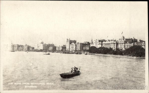 The Bund From Whangpoo River Shanghai China