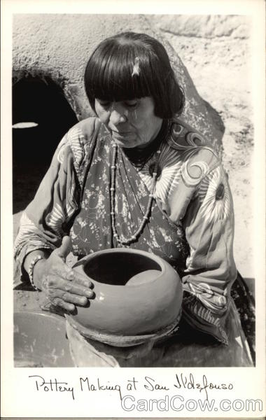 Pottery Making at San Ildefonso San Ildefonso Pueblo New Mexico
