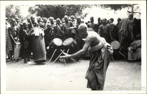 Africa: A Festive Dance - a Time of Making Religious Sacrifices and Much Palm Wine Drinking