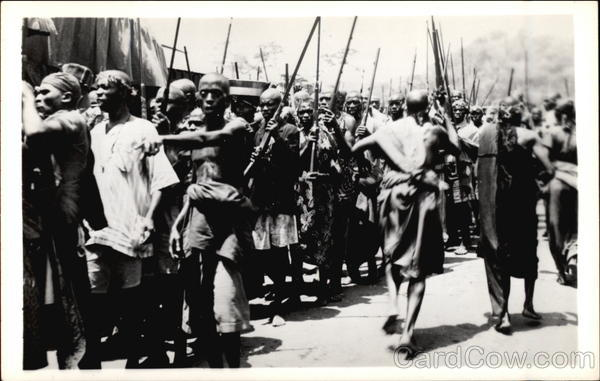 Forming the Homeguard for a Parade Africa