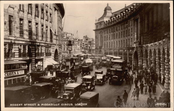 Regent Street & Piccadilly Circus London England