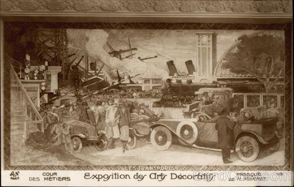 Exposition des arts decoratif les tranports paris france 1925 exposition des arts decoratifs - Les arts decoratif paris ...