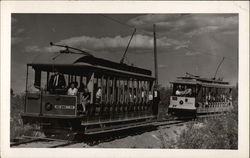Two trolley cars