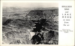 Boulder Dam and Lake Mead as Seen from Air