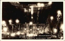 Night Construction, Downstream Face of Boulder Dam