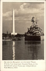 San Jacinto Monumnet and the USS Texas