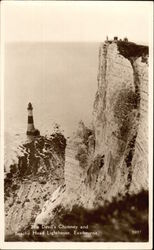 The Devil's Chimney and Beachy Head Lighthouse Postcard