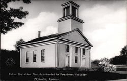 Union Christian Church Attended by President Coolidge