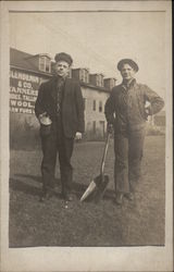 Oil & Coal Men, Railroad Workers Postcard