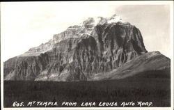 Mt. Temple from Lake Louise Auto Road