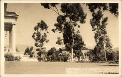 Library and Holmes Hall, Pomona College