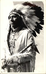 Crow Indians; Max Big Man Postcard